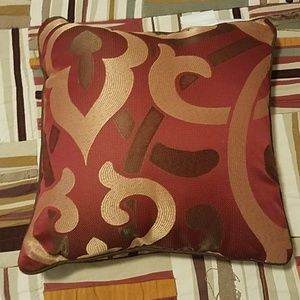 Other - Never Used Red, Brown, Tan Accent Pillow